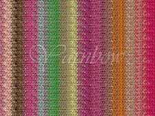 NORO ::Taiyo #28:: cotton silk wool yarn Fuchsia-Lemon-Lime-Rose-Nut