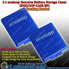 Tracking 2 Sanyo Pansonic eneloop Battery Storage Case AA AAA Holder Plastic Box