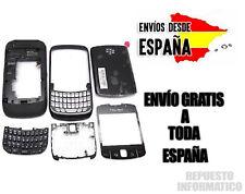 Carcasa Blackberry 9300 NEGRO CHASIS+FRONTAL+TECLADO+MARCO PANTALLA+TAPA TRASERA