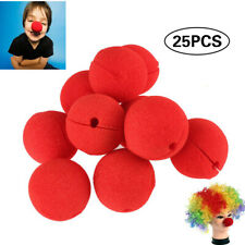 25pcs Foam Clown Nose Circus Party Halloween Costume Red 5.5cm