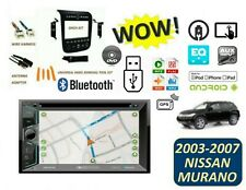Fits NISSAN MURANO 2003-2007 BLUETOOTH STEREO KIT GPS MP3 USB TOUCHSCREEN