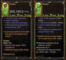 Diablo 3 RoS PS4 [SOFTCORE] Dragon Demon Hunter Mod Weapon Bundle Instant Level!