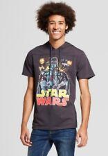 Men's Star Wars Shirt - Darth Vader Short Sleeve Hooded Graphic T-Shirt - XL