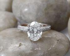Diamond Engagement Ring 14k White Gold Oval Cut 1.50Ct Diamond Wedding Ring