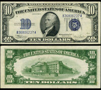 FR. 1704 $10 1934-C Silver Certificate B-A Block Nice CU