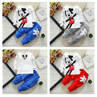 2pcs Boy Girl Clothes Kids Baby Top T-shirt+Pants Set Tracksuit Outfit Trousers