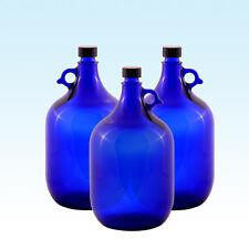 3x Galón 5 litros / glasballonflasche Globo de cristal botella azul / agua Vino