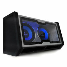 "DOUBLE SUBWOOFER AUTO DESIGN 2X 30CM 12"" TUNING VOITURE SPORT 2400W BASSES LED"