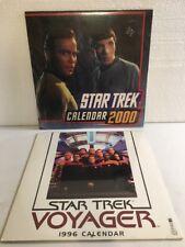 Star Trek Voyager 1996 & Original Series 2000 Wall Calendars Lot Of 2 New