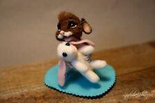 Ooak needle felted mouse, teddy animals by Jljuda, handmade