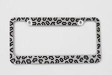 Bling Grey Leopard Diamond License Plate Frame