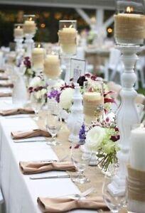 "Burlap Table Runner 14"" Wide x108"" Long WEDDING EVENT Show NATURAL JUTE SALE"