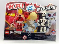 LEGO NINJAGO 2 Figuren Blister Pack 111903 Kai vs. Wyplash Waffen NEU Legacy