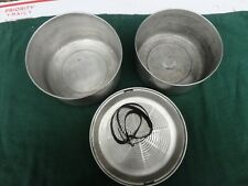 Vintage Camping cookware set mess kit Thick fry pan Easy clean rounded bottom