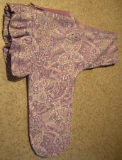 Purple Paisley Ruffled Toy Dog Harness Vest Italian Greyhound Chinese Crested