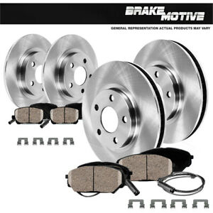 Front and Rear Brake Rotors and Ceramic Pads For 2013 Audi Q5 2.0T