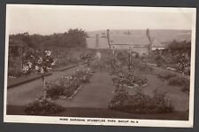 Postcard Bacup nr Rawtenstall the Rose Gardens in Stubbylee Park posted 1934 RP