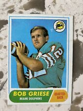 11968 Topps Football Bob Griese #196 Rookie Card
