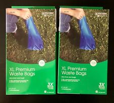 New Master Paws Ultra Thick Xl Premium Blue Waste Bags 2 Boxes Of 100