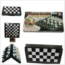 Classic Magnetic Plastic Chess Board Game Black & White Player For Adults Kids