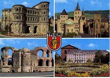 Postkarte Trier Fotokunst Schwalbe: M1 Porta Nigra, Dom und Liebfrauenkirche ...
