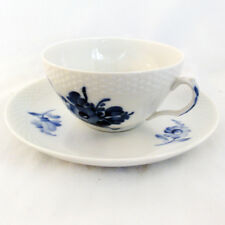 BLUE FLOWERS BRAIDED Royal Copenhagen Cup & Saucer NEW NEVER USED made Denmark