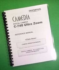 LASER Printed Olympus C-740 C-760 Camera Ultra Zoom Manual Guide 226 Pages