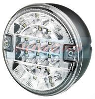 12V/24V VOLT LED REAR ROUND HAMBURGER REVERSE LAMP LIGHT CARAVAN TRAILER TRUCK