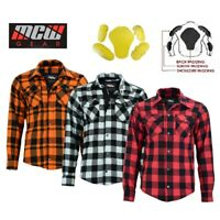 Motorbike Motorcycle Lumberjack Mesh Lined Boys Men Shirt Protective CE Armoured