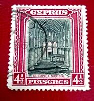 Cyprus:1934 Landscapes and Buildings 4½Pia Rare & Collectible stamp.