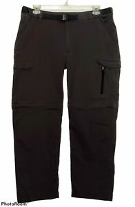 Men's BC Clothing Cargo Convertible Outdoor Pants Size XXL x 32 Dark Gray