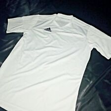 Rare Adidas Soccer Athletic Shirt Jersey White Cool Design Yxl Mens Small