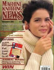 Machine Knitting News Nov 1992 Features 16 Page Sock Supplement & More