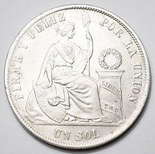 PEROU : JOLI SOL ARGENT 1871 (sans point dans la date)