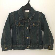 Wrangler Girls Toddler Denim Jean Trucker Jacket 2T Dark Blue Front Snap