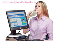 Factory Handheld Digital Spirometer,FVC,VC,MVV,Respirary Spirometer PC Software.