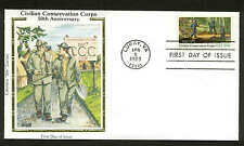 "2037 CIVILAN CONSERVATION CORPS FDC LURAY, VA COLORANO ""SILK"" CACHET"