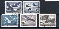 Austria 1950 Air values to 20s FU CDS