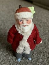 Antique Germany christmas Santa Doll St. Nicholas Bisque  Limbach C. 1900 3""