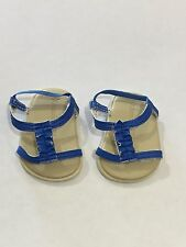 """American Girl 18"""" Doll KANANI Blue Meet Sandals Shoes Only Retired"""
