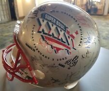 Patriots Super Bowl 36 XXXVI Signed Helmet BY Many Players Partial Charity Donat