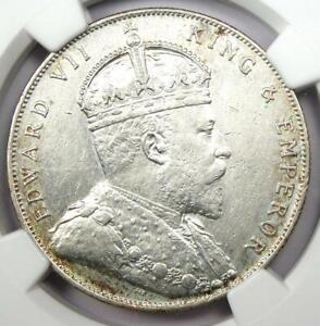 1908 Straits Settlements Dollar $1 - Certified NGC AU Detail - Rare Coin!