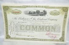 USA Amerika Baltimore and Ohio Railroad Company Twenty five Aktie Deko