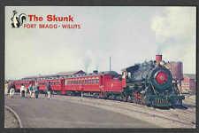 Ca 1972 PPC*  THE SUPER SKUNK FORT BRAGG WILLITS TOUR TRIP STEAM ENGINE MINT