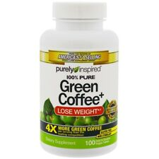 Purely Inspired 100% PURE GREEN COFFEE + CONCENTRATED BEAN EXTRACT 100 Veg Tabs