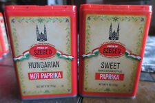 Hungarian Style Paprika Hot or Sweet Szeged 4 Ounce can LOT of 2