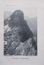 Benesch: Das Stadelhorn vom Wagendrischelhorn - Originaldruck aus 1910 Foto