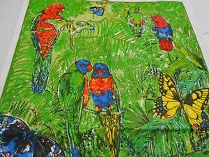 Vintage Souvenir Teatowel Birds & Butterflies of the Rainforest - brand new