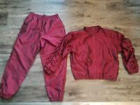Vintage On Your Mark Nylon Windbreaker Track Suit Jacket Pants Womens Small/Med