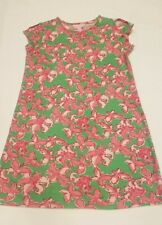 Lilly Pulitzer All a Flutter Cold Shoulder Dress Pink Butterfly Print Girls L